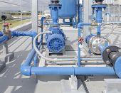 image of centrifuge  - Water pump and steel pipe  - JPG