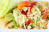 image of green papaya salad  - Papaya Salad Thai call  - JPG