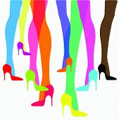 picture of thigh highs  - Colorful high - JPG