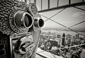 picture of binoculars  - Binocular at the top of Empire State Building - JPG