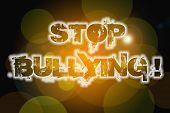 image of stop bully  - Stop Bullying Concept text on background idea - JPG