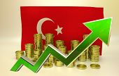 image of turkish lira  - currency appreciation illustration  - JPG