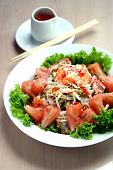 picture of fruit bowl  - Photo of a bowl of  mixed fruit - JPG