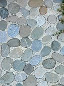 pic of pavestone  - Detail of a cobble brick road - JPG