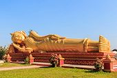 pic of recliner  - Image of Reclining Golden Buddha in the centre of Vientiane Laos - JPG