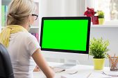 image of blank  - Blank computer display for your own presentation or business concept - JPG