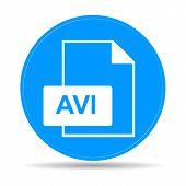 stock photo of png  - avi file icon - JPG