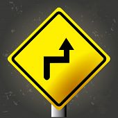 foto of traffic signal  - Textured background with an isolated traffic signal - JPG