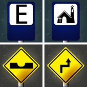 stock photo of traffic signal  - Set of textured backgrounds with traffic signals - JPG