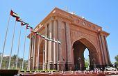 foto of emirates  - Emirates Palace View From VIP Gate in Abu Dhabi United Arab Emirates - JPG