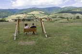 picture of pieniny  - A couple on Swing - JPG
