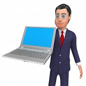 stock photo of presenting  - Businessman Presenting Indicating Blank Space And Commerce - JPG
