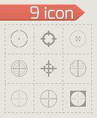 image of crosshair  - Vector crosshair icons set on grey background - JPG