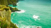 picture of atlantic ocean  - Irish landscape - JPG