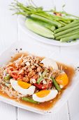 picture of green papaya salad  - Somtum - JPG