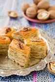 foto of baklava  - Baklava traditional oriental sweets - JPG