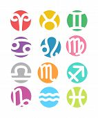 foto of scorpio  - Set of horoscope zodiac signs set  - JPG