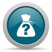 stock photo of riddles  - riddle blue glossy web icon - JPG
