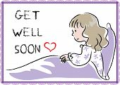 pic of get well soon  - a card with a cartoon girl about get well soon - JPG