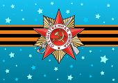 image of patriot  - Order of the Patriotic war and George Ribbon in vector - JPG