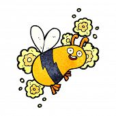stock photo of flying-insect  - cartoon flying bee - JPG