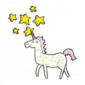 image of unicorn  - cartoon magical unicorn - JPG