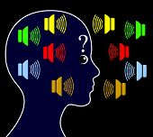 pic of hearing  - Schizophrenic person may hear voices other people do not hear and get paranoid - JPG