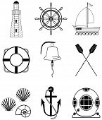foto of life-boat  - Nautical elements such as bell - JPG