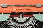 foto of time machine  - Vintage Typewriter With Phrase  - JPG