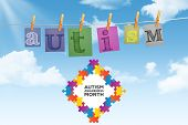 picture of autism  - Autism awareness month against digitally generated grey background - JPG
