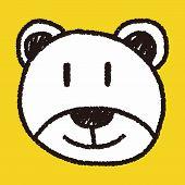 foto of baby bear  - Baby Bear Doodle Drawing - JPG