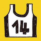 picture of vest  - Sports Vest Doodle Drawing - JPG