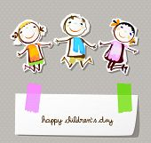 foto of animated cartoon  - happy children day  - JPG