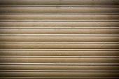 image of roller shutter door  - old wooden roller shutter for backgrounds and compositions - JPG