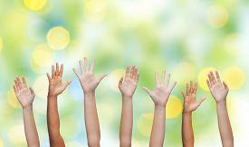 pic of waving hands  - gesture - JPG