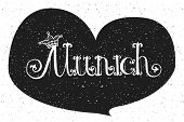 Vector Illustration Of Munich Logotype poster