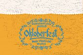 Vector Illustration Of Oktoberfest Logotype poster