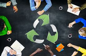 picture of segregation  - Reuse Recycle Ecology Environment Go Green Meeting Concept - JPG