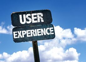 stock photo of experiments  - User Experience sign with sky background - JPG
