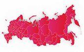 Постер, плакат: New map of the Russian Federation and Crimea