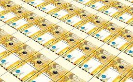 image of pesos  - Philippines peso bills stacks background - JPG