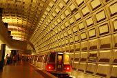 image of rosslyn  - Rosslyn Metro where the orange and blue line run in Arlington Virginia - JPG
