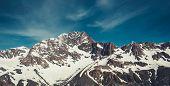 Winter Landscape Of Snow Mountain Range poster