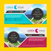 Business Flyer Design  Horizontal Template With Blur Background And Place For Your Text poster