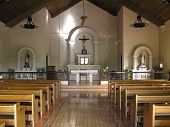 image of church interior  - chapel interior in a remote rural town