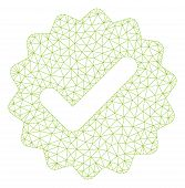 Mesh Best Medallion Model Icon. Wire Carcass Polygonal Mesh Of Vector Best Medallion Isolated On A W poster