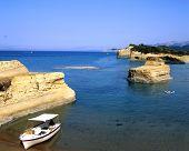 picture of sidari  - The interesting coastline of Sidari on the greek island of Corfu - JPG