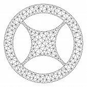 Mesh Clock Blank Wheel Polygonal Icon Vector Illustration. Abstraction Is Based On Clock Blank Wheel poster