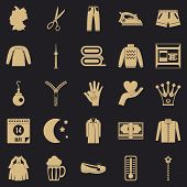 Apparel Icons Set. Simple Set Of 25 Apparel Vector Icons For Web For Any Design poster