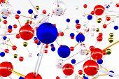 Постер, плакат: Комплекс структуры молекулы 3D визуализации